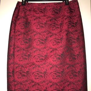 Red and black flower pattern Calvin Klein skirt
